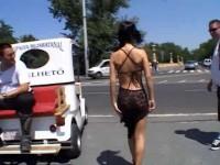 Kinky brunette babe in a Public Disgrace
