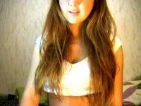 Steaming hot Spanish teen on webcam