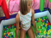 Young Kara`s first dick sucking lesson!