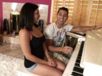 Natasha Nice loves her piano lessons
