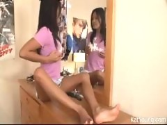 Naked Teen In Front Of Mirror