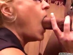 Old Slut Blows Black Cock