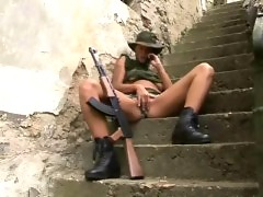Sexy military girl fucked hard