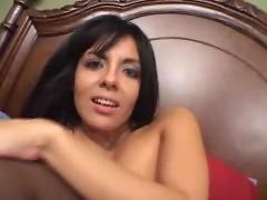 Hot latina Lorena Sanchez in stockings
