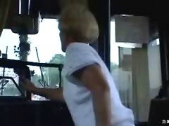 Public indecency on the bus, this horny couple doesn`t give a shit!