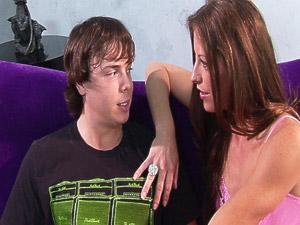 Sexy MILF fucked young teen boy