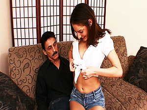 She just fucked daddys hot best friend