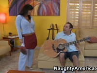 Will just wanted to pick up a guitar for a gig, Lisa Ann however, had something more exciting he could play with.