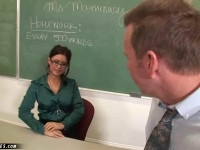 Eva Angelina is perfect as the naughty teacher