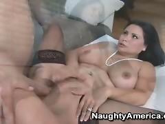 Sophia Lomeli sucks a big fat cock and gets fucked good
