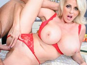 Hot and busty MILF who is ready to fuck a younger cock