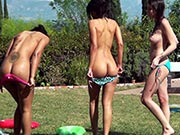 Layla Sin, Jennifer, Luna C Kitseun - Wetting Our Dicks on the Slip 'n' Slide