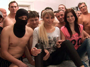 Girlfriend and her sister get fucked at czech gang bang