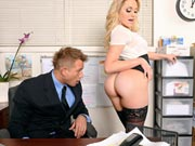 Gorgeous babe Mia Malkova has hot sex with big cock