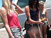 Giselle Mari, Hailey Holiday, Tinslee Reagan - Car Wash Wager