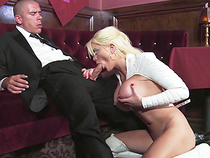 High class call girl Alexis Ford takes a big dick