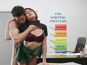 InnocentHigh innocent brunette student wants his cum