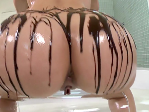Chocolate covered butt for dessert
