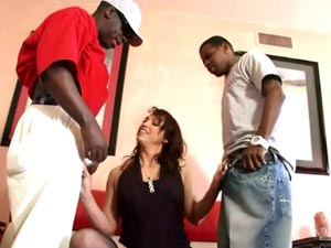 Nikki Hunter redhead milf loves black cocks