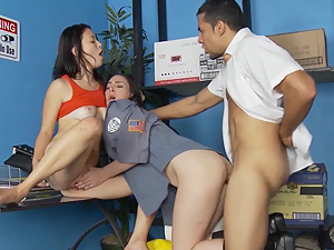 Daisy Summers and her partner share this hard cock