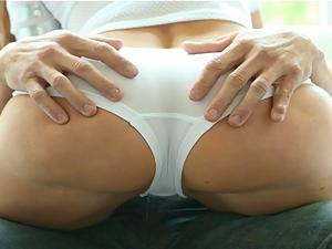 PureMature MILF sucks her man's balls during game