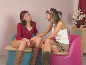 Avidat and Melisa, two hot and horny lesbian teens