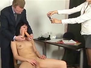 Secretary interviewed by kinky HR people