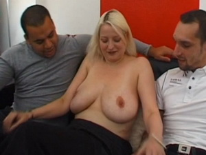 German blonde Carola gangbanged