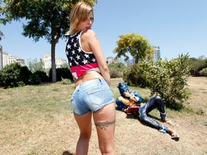 Bextia fucks with the hot young slut Billie Jo