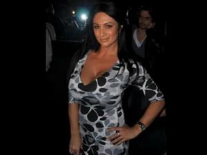 Italian female anchor Marika Fruscio nip slip