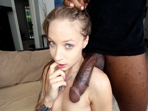 Some big black dick for the petite white girl