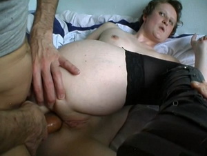 He watch his wife Emilie fucked in asshole
