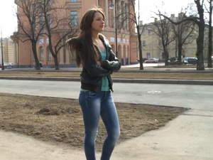 Pickup girl stayed without her jeans scene 2