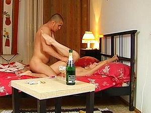 Romantic couple sex with creams