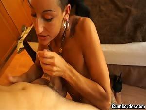 Naughty latina loving bouncing around on a big Cock
