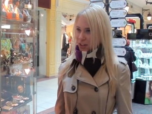 Blonde girl sex adventure in a cafe scene 1