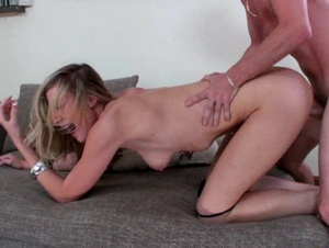 This hot blonde loves getting pounded by some cock