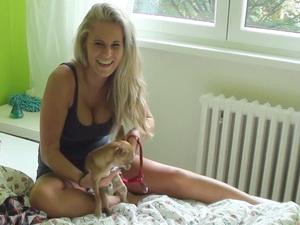 Czech Amateurs - Sexy big titted blonde