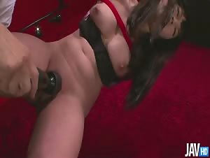 Bound Nene Masaki finds her pretty pussy toyed with