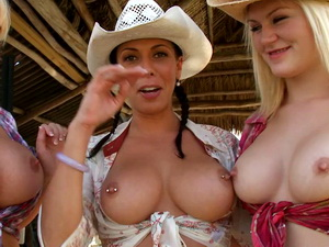 Trip on the ranch ends up with an orgy