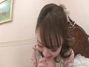 Tomoka Sakurai has her pussy pounded