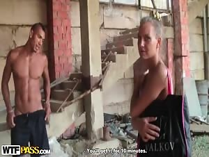 Sexy girl in bikini gets paid for sex