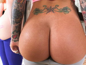 Christy Mack brings along a big booty White Girl!