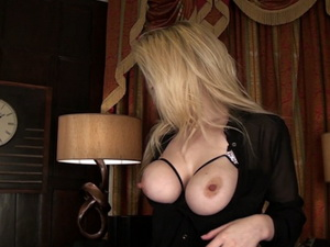 Big natural tits on a blonde