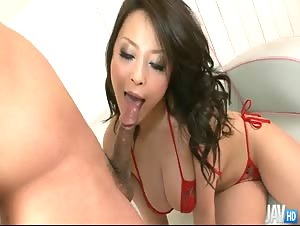 Yuu Haruka is one cum loving Japanese honey who can't wait to feel that hot cum in her throat