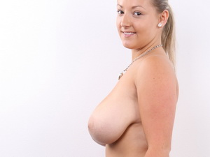 Casting Huge Natural Boobs sized 7!