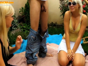 Two young couples swinger fun