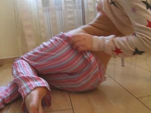 Irina in pijamas masturbating