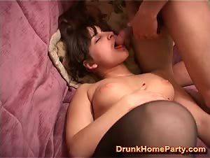 Drunken girl is ready to fuck the whole night long