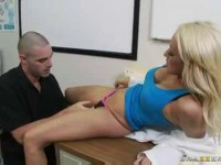 Blonde doctor Breanne Benson getting it good